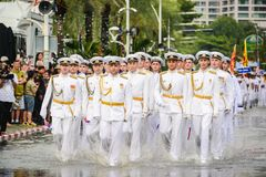 Russia Navy parade marching in International Fleet Review 2017