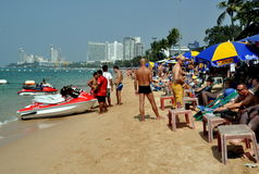 Pattaya, Thailand: Pattaya Beach Scene Royalty Free Stock Photography