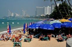 Pattaya, Thailand: Pattaya-Strand-Szene Lizenzfreie Stockbilder