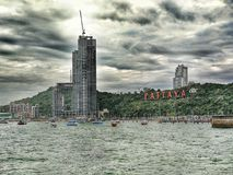 Pattaya Thailand stormy sky and ocean Royalty Free Stock Image