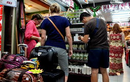 Pattaya, Thailand: Tourists Shopping for Cosmetics Stock Photography