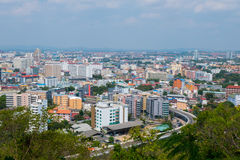 Pattaya, Thailand. View from top of The building cityscape and skyscraper in daytime Royalty Free Stock Photography