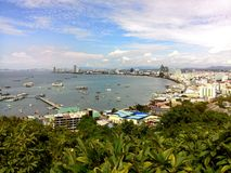 Pattaya, Thailand. Viewpoint from Pattaya, Thailand Royalty Free Stock Photo