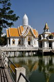 Pattaya, Thailand: White Temple at Wat Chai Mongkhon Royalty Free Stock Photo