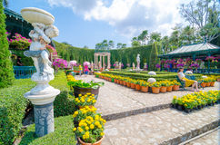 Pattaya,ThailandNong : Nooch Tropical Garden desig Royalty Free Stock Photo