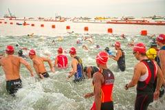 Pattaya Triathlon,Thailand Tri-League Tour Series 2015. Royalty Free Stock Images
