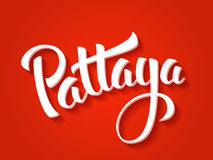 Pattaya vector lettering Royalty Free Stock Image