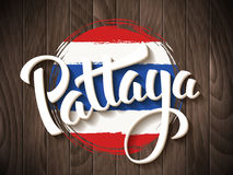 Pattaya-Vektorbeschriftung Stockbild