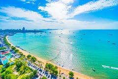 Pattaya zatoka i miasto Zdjęcia Stock