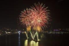 2015 Pattaya zawody międzynarodowi ogienia praca Zdjęcie Royalty Free
