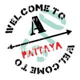 Pattaya znaczka gumy grunge Zdjęcie Stock