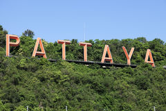 Pattayateken Royalty-vrije Stock Foto's