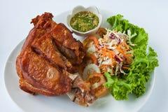 Patte cuite à la friteuse de porc image stock
