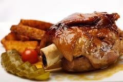 Patte cuite de porc Photos libres de droits