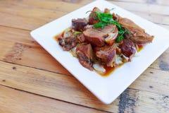 Patte cuite de porc Image libre de droits