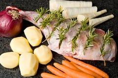 Patte d'agneau préparée Image libre de droits