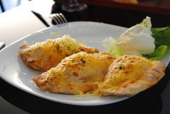 Patte de poulet frit Photo stock