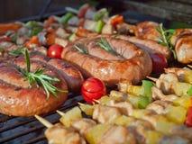 Patte de poulet frit avec les fritures et la salade Image libre de droits