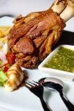 Patte frite de porc. Photographie stock libre de droits