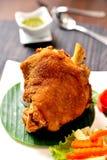 Patte frite de porc Images libres de droits