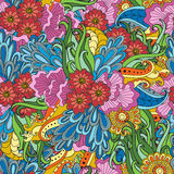 Patte sem emenda colorido floral étnico decorativo do vetor abstrato Fotos de Stock