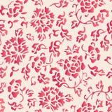 Patte senza cuciture elegante del fiore della peonia del giardino botanico di stile cinese royalty illustrazione gratis