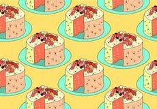 Patten пирога безшовный Стоковая Фотография RF