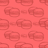 Patten with macaroon Stock Photo