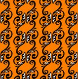 Patten strips on  orange background. Stock Photo