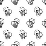 Pattenr com mugs-1 Imagem de Stock Royalty Free
