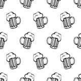 Pattenr con mugs-1 Imagen de archivo libre de regalías