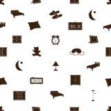 Pattenr eps10 delle icone della camera da letto Illustrazione di Stock