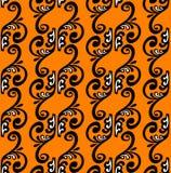 Pattenstreifen auf orange Hintergrund. Stockfoto