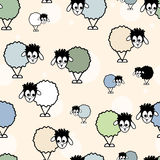 Patter, funny sheep. Seamless patter, funny sheep hand drawn Royalty Free Stock Photo