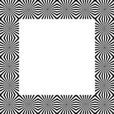 Patter with mosaic of radiating lines. Monochrome background Stock Images