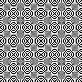 Patter with mosaic of radiating lines. Monochrome background. Royalty free vector illustration royalty free illustration