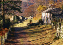 Patterdale rural cottages, Cumbria Royalty Free Stock Photo