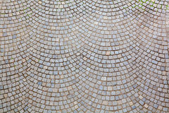 Pattered cobblestone street Stock Photo