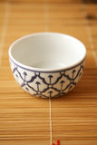 Patterend ceramic bowl Royalty Free Stock Images
