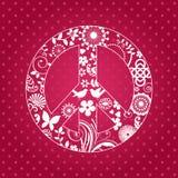 Patterened和平标志 免版税库存照片