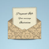 Patterened Envelope with paper vector illustration