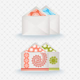 Patterened envelopes Stock Image