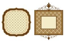 Patterened frames stock illustration