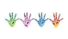 Patterened hands Royalty Free Stock Photos