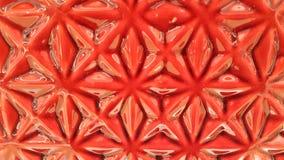 Patterm de fleur vitré par rouge Image libre de droits