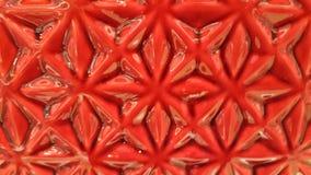 Patterm de fleur vitré par rouge Photos libres de droits
