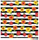 Patterm sem emenda da flor do hibiscus Imagem de Stock Royalty Free