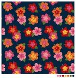 Patterm senza cuciture del fiore dell'ibisco Fotografie Stock