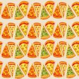 PatternÂŒ för pizzapajer vektor illustrationer