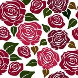Patternsem emenda da florcom rosas Imagem de Stock